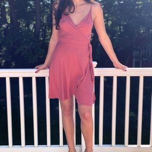 Pink Cross Body dress
